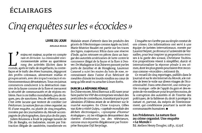Prédateurs - Le Monde